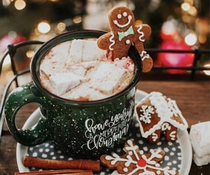christmas, drink, and desserts image