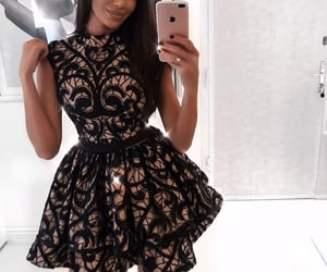 homecoming dress, dress, and black homecoming dress image
