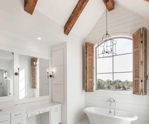 bathroom, Blanc, and bois image