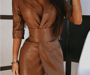 brown, robe, and dress image