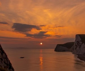 sunset, ocean, and nature image