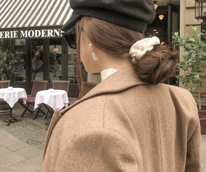 cafe, coat, and girl image