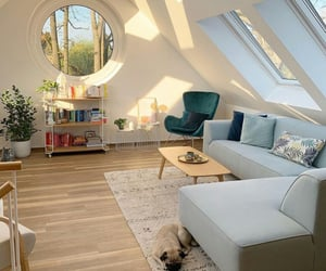 contemporary attic living room