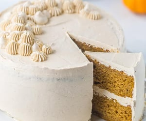 Spiced Pumpkin Cake with Brown Sugar Swiss Meringue Buttercream