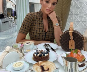 cake, style, and coffee image