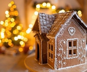 gingerbread house and winter image
