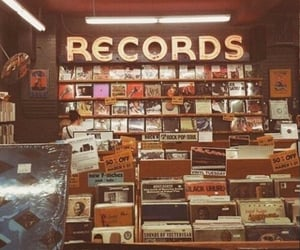 record, music, and vintage image