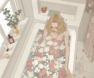 aesthetic, art, and bathtub image