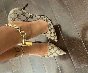 fashion, jewelry, and gucci heels image