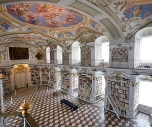 Library at the Benedictine Monastery of Admont - Admont, Austria Libraries so stunning you probably won't get much reading done !…