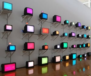 tv, colors, and lights image
