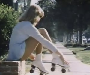 60s, femme fatale, and rollerblades image