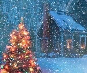 christmas, ligths, and snow image