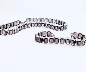 Elegant Multifaceted Amethyst and Silver Necklace and image 0