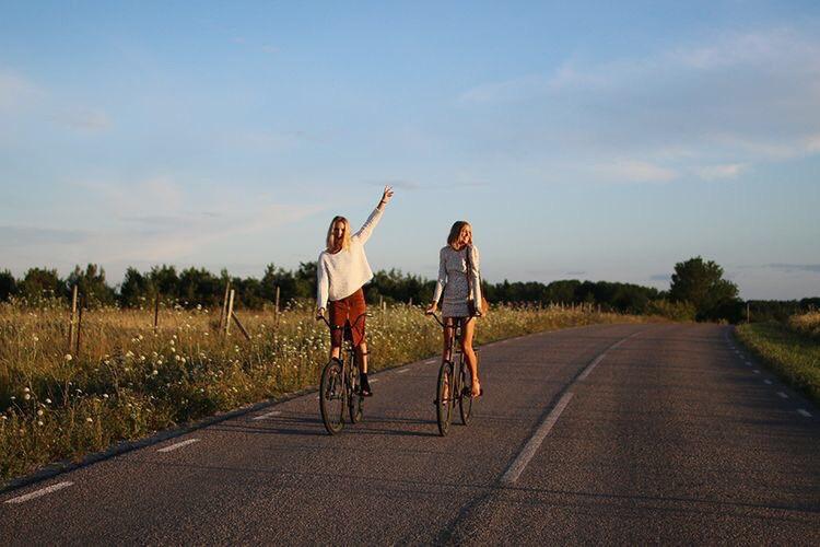 summer, bike, and friendship image