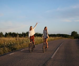 summer, bike, and friendship image