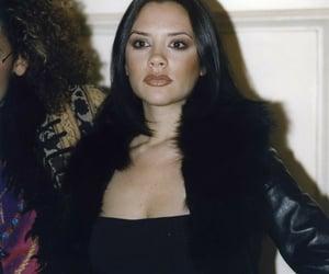 1990s, black coat, and makeup image