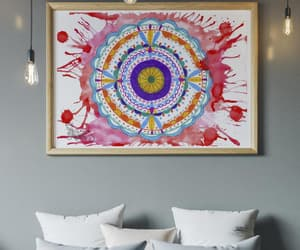mandala wall art, etsy, and original watercolor image