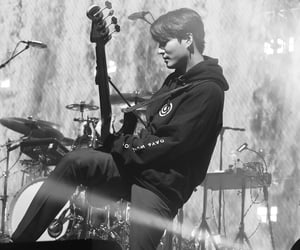 black and white, day6, and youngk image