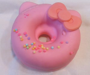 donut, hello kitty, and pink image
