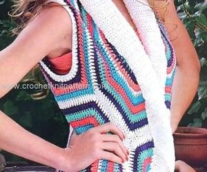 crochet, dress, and handmade dress image