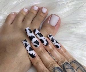 ghetto, long nails, and toe nails image