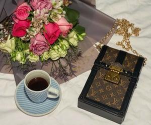 coffee, fashion, and flowers image