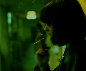 green, grunge, and smoke image