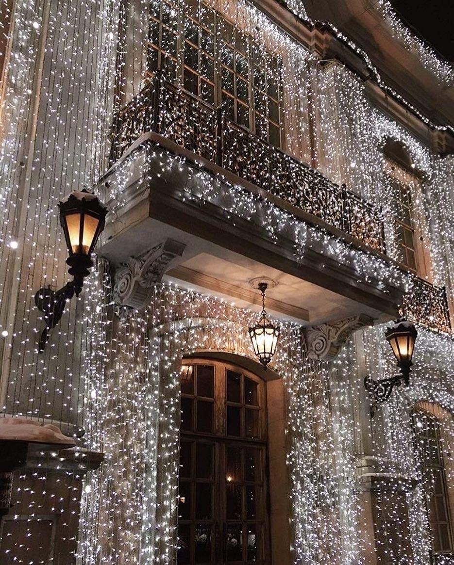lights, christmas, and winter image