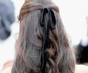 brunette, new years eve, and ribbon image