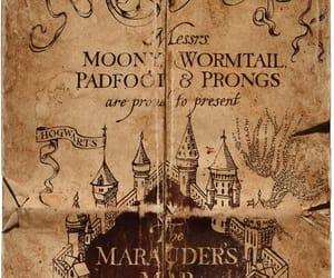 harry potter, marauders map, and hogwarts image