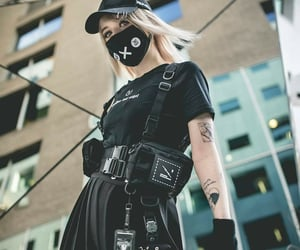 black, harness, and photography image