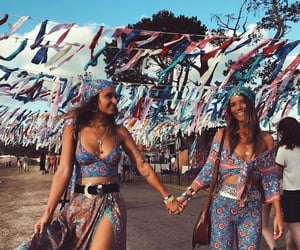 friends, coachella, and fashion image