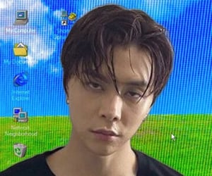 nct johnny icon, nct cyber icons, and johnny cybercore image