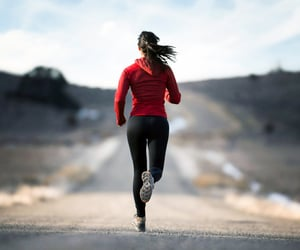 happiness, run, and love yourself image