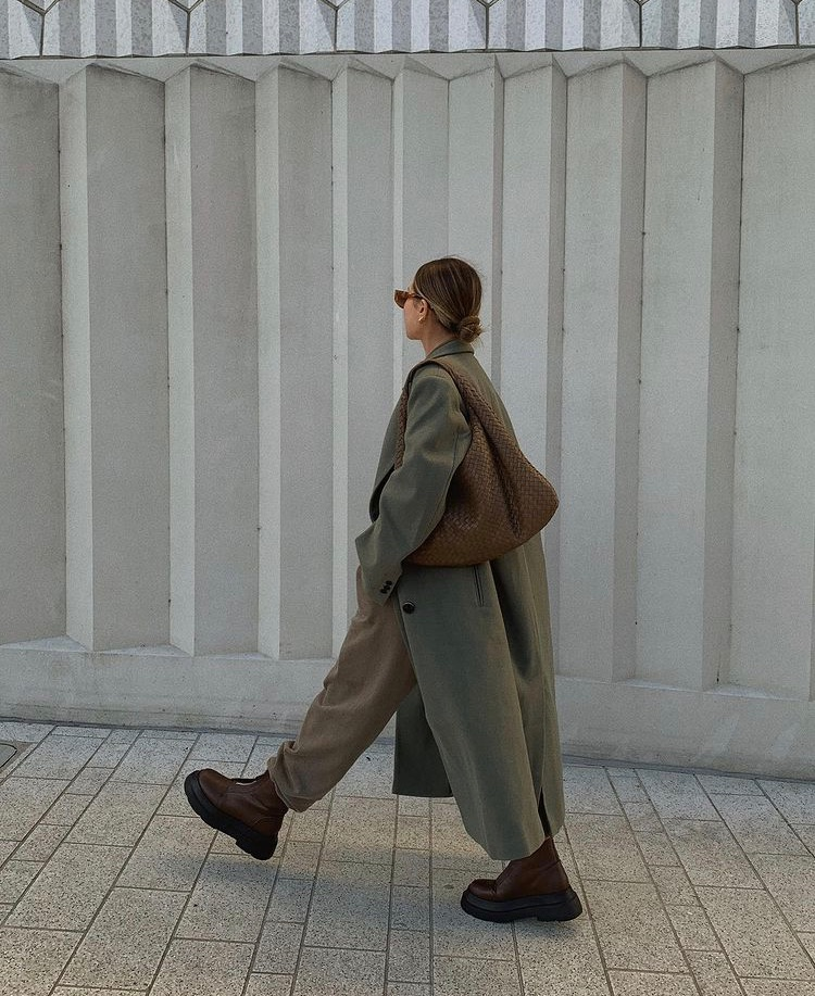 green coat, street style, and fashion style mode image