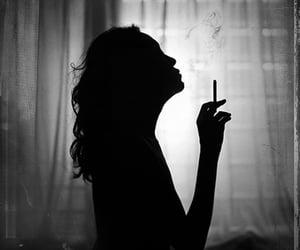 black, black and white, and smoke image