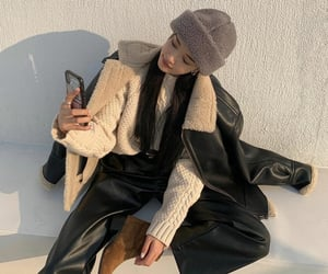 beanie, black, and fashion image