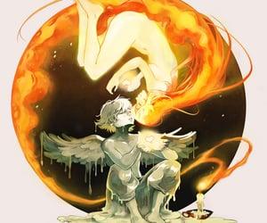 comic, anime boy and girl, and love image
