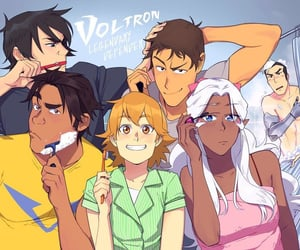 hunk, morning, and Voltron image