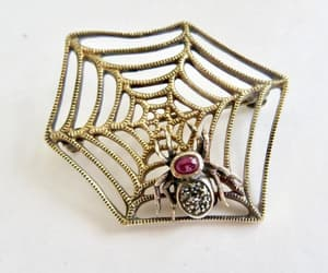 etsy, vintagevoguetreasure, and spider jewelry image