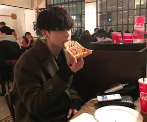 asian, pizza, and restaurant image