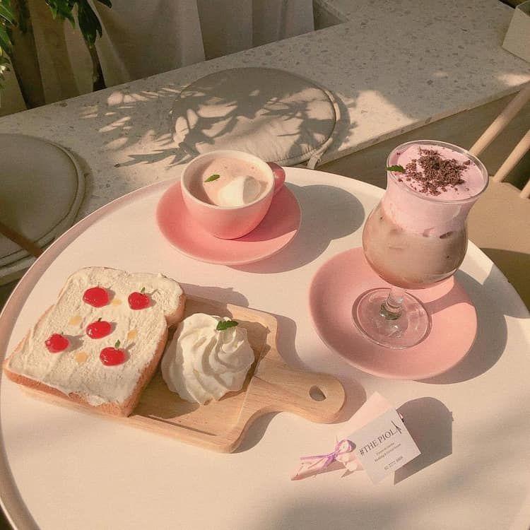 cake, smoothie, and munchies image