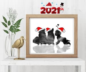 etsy, new year decor, and dog christmas hat image