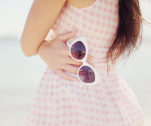 dress, girl, and sunglasses image