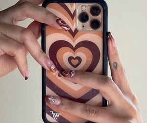 aesthetic, heart, and nail art image