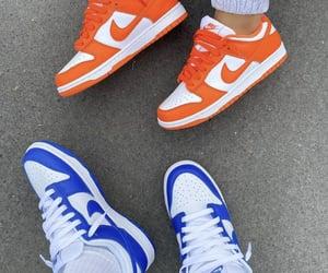 blue, nike, and orange image