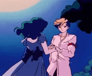 90s, gif, and anime couple image