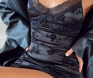 black dress, fashion, and motel rocks image
