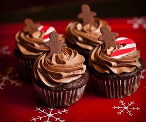 cupcake, christmas, and chocolate image